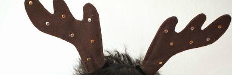 2 DIY Reindeer Antler Horns Headband Christmas craft 1