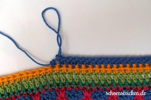 Crochet Along Babydecke Teil 12 Reihe 1 - schoenstricken.de