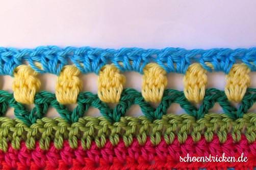 crochet along regenbogen babydecke teil 12. Black Bedroom Furniture Sets. Home Design Ideas