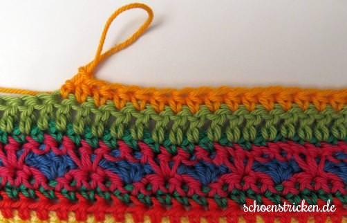 Crochet Along Babydecke Teil 12 Reihe 1a - schoenstricken.de
