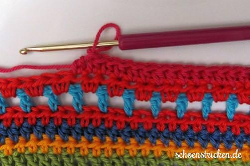 Crochet Along Babydecke Teil 12 Reihe 6 - schoenstricken.de