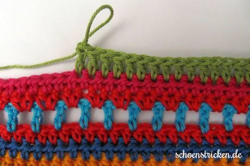 Crochet Along Babydecke Teil 12 Reihe 7 - schoenstricken.de