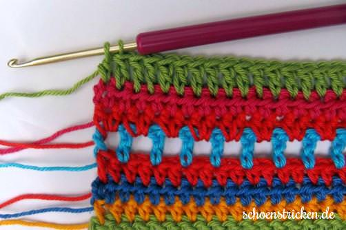 Crochet Along Babydecke Teil 12 Reihe 8 - schoenstricken.de