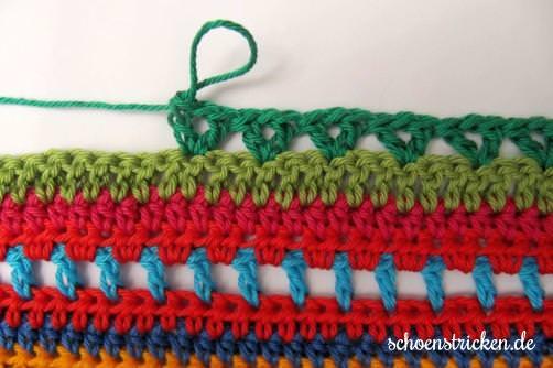 Crochet Along Babydecke Teil 12 Reihe 9 - schoenstricken.de