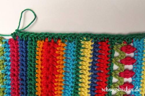 Crochet Along Babydecke Umrandung grün total - schoenstricken.de