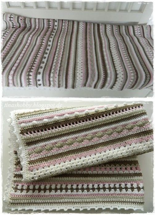 Crochet Along Babydecke von Bettina