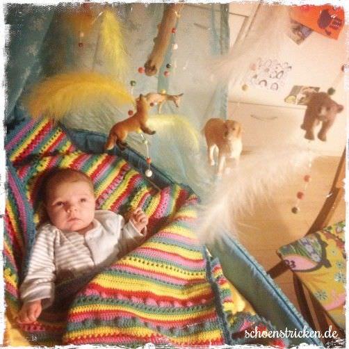 Crochet Along Babydecke von Nadja- schoenstricken.de