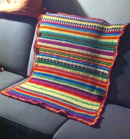 Crochetalong Babydecke von Bettina via Facebook schoenstricken.de
