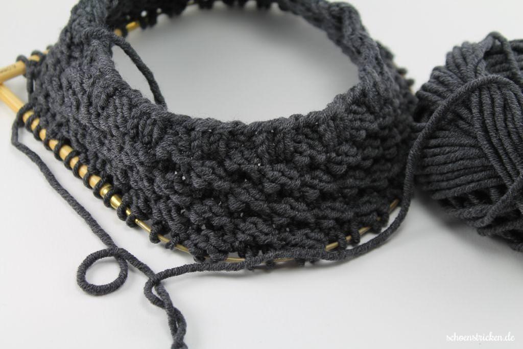 schoenstricken.de | Männerloop: Strickanleitung für einen Boyfriend-Loop