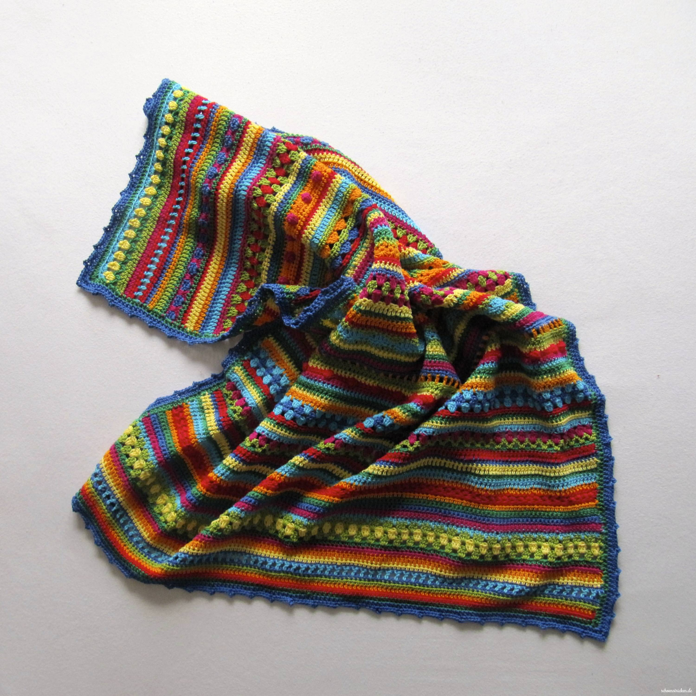 Schoenstrickende Crochet Along Regenbogen Babydecke Teil 3