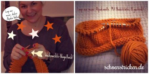 Loop aus dicker Wolle stricken schoenstricken.de