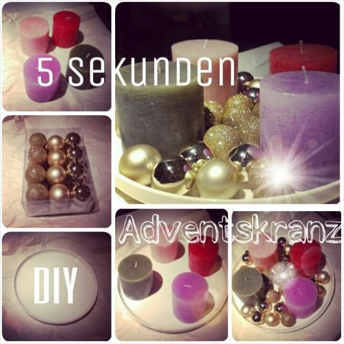 5 Sekunden DIY Adventskranz - schoenstricken.de