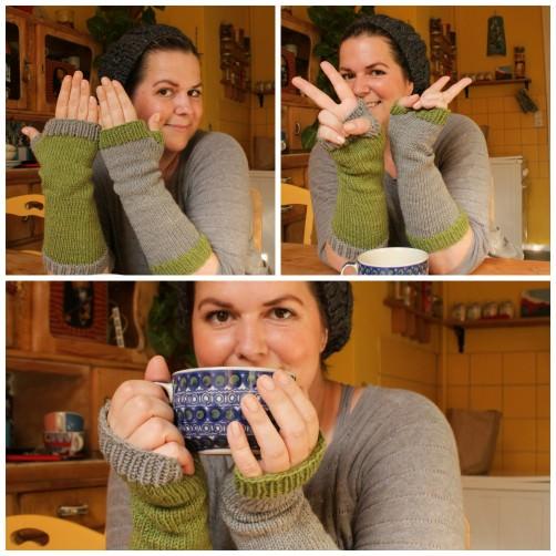 Collage Bunte Armstulpen schoenstricken.de