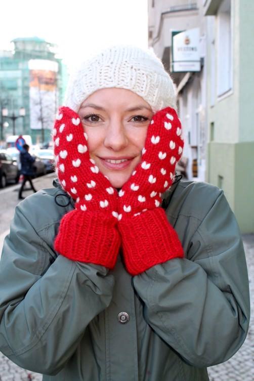 Handschuhe mit Herzen stricken .schoenstricken.de