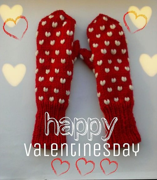 Handschuhe mit Herzen stricken - schoenstricken.de