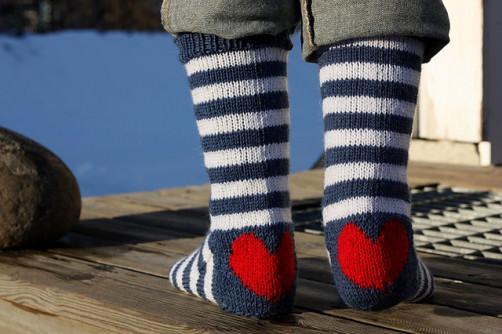 Herzstrümpfe stricken - schoenstricken.de