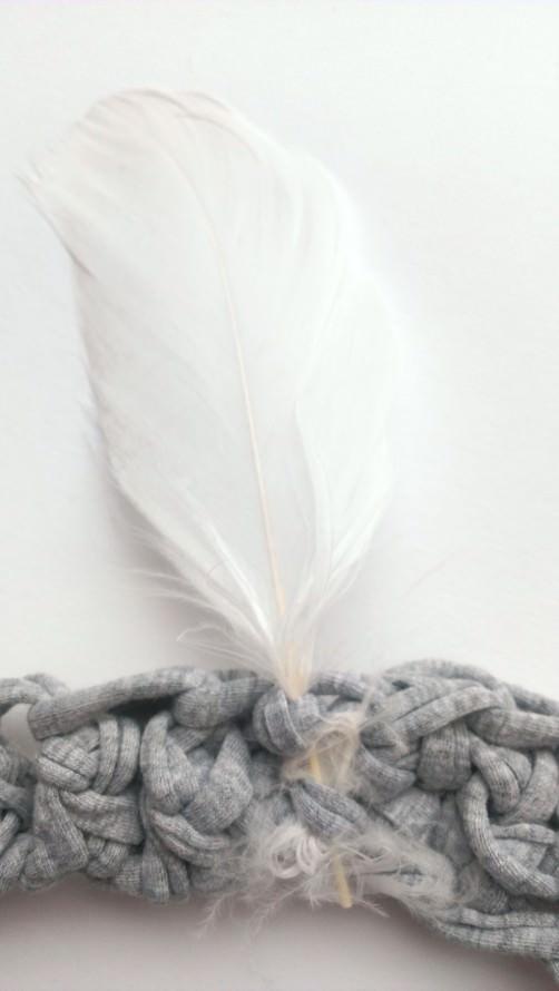Indianerstirnband aus T-Shirtgarn häkeln 8 - schoenstricken.de