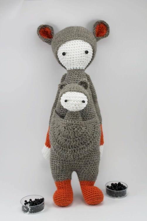Lalylala känguru Kira Augenperlen - schoenstricken.de