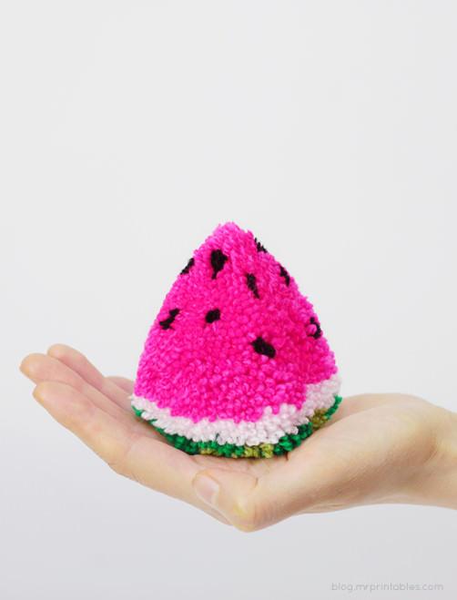 Pompom wassermelone - schoenstricken.de