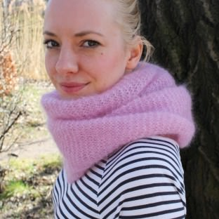 Schal aus Mohairwolle stricken - schoenstricken.de