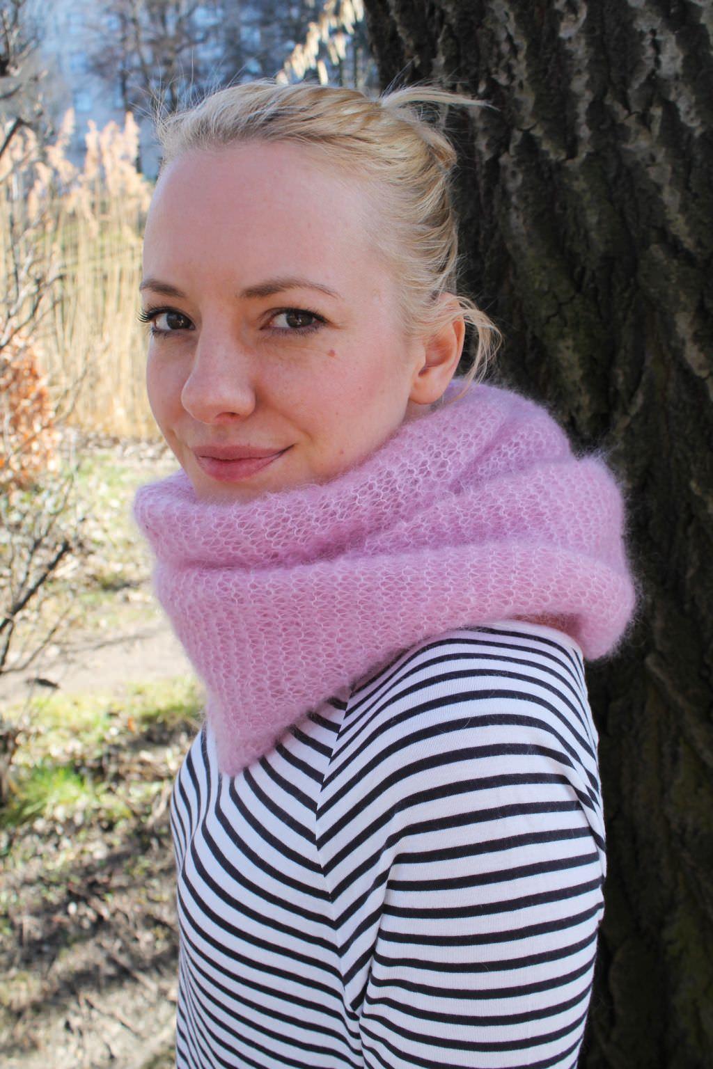 Schal aus Mohairwolle stricken - schoenstricken.de