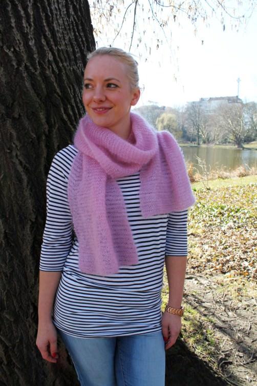 Schal aus Seide Mohairwolle stricken - schoenstricken.de
