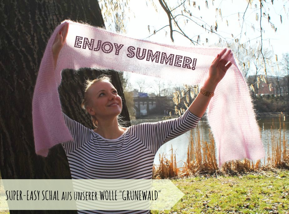 schoenstricken.de | Sommerschal aus Mohair-Seidewolle stricken