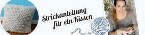 schoenstricken Strickanleitung Kissen bei wohnklamotte