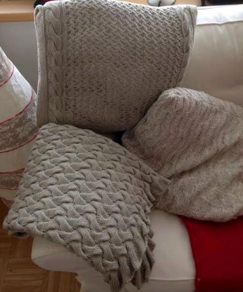 Kissen und Decke stricken schoenstricken.de