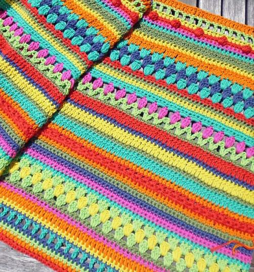 Crochetalong Decke mit Baumwolle KREUZBERG von Regina schoenstricken.de