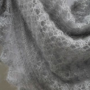 Mohair-Seide Stricktuch TANYA Detail Muster schoenstricken.de
