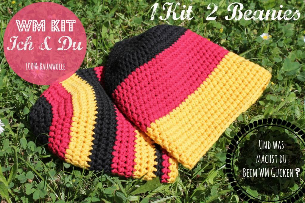 WM 2014 Häkelbeanie Kit. schoenstricken.de