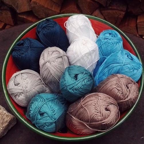 Baumwolle für die CAL Tasche schoenstricken.de