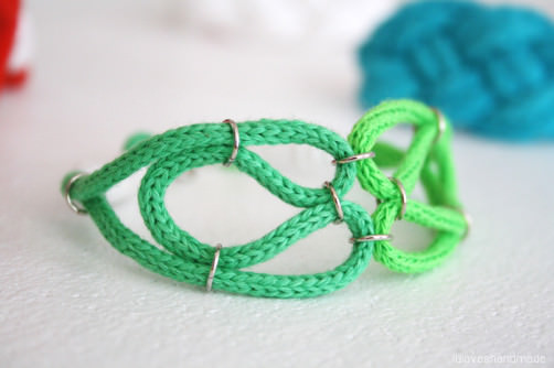 Sommer Armband DIY grün luloveshandmade schoenstricken.de