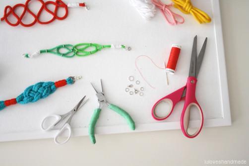 Sommer Armband DIY luloveshandmade schoenstricken.de