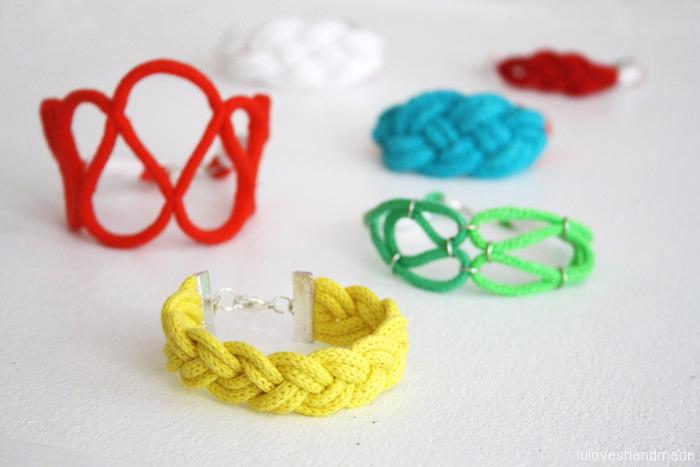 Sommer Flechtarmband DIY luloveshandmade schoenstricken.de