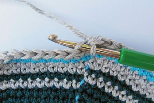 Taschen Crochetalong Sand und Meer Teil 1 Die Taschenwand schoenstricken.de