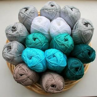 Wolle für das Taschen Crochetalong von schoenstricken.de