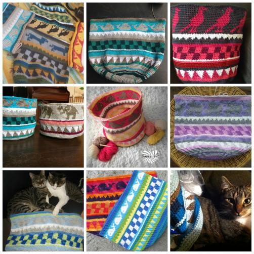 Collage CAL Taschen Teil 3 von schoenstricken.de