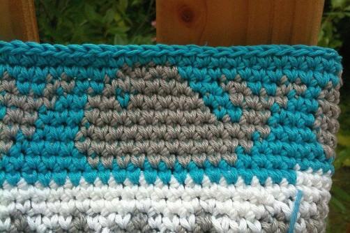 Crochetalong Tasche Muster 3 Wal schoenstricken.de