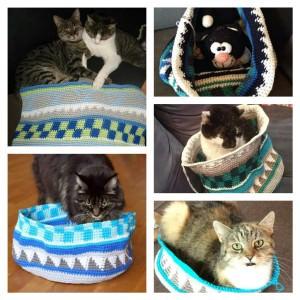 Von Katzen auf cal Taschen und meinen Strickprojekten
