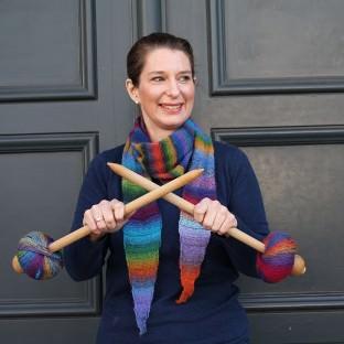 Schalkit Regenbogen stricken 3 schoenstricken.de