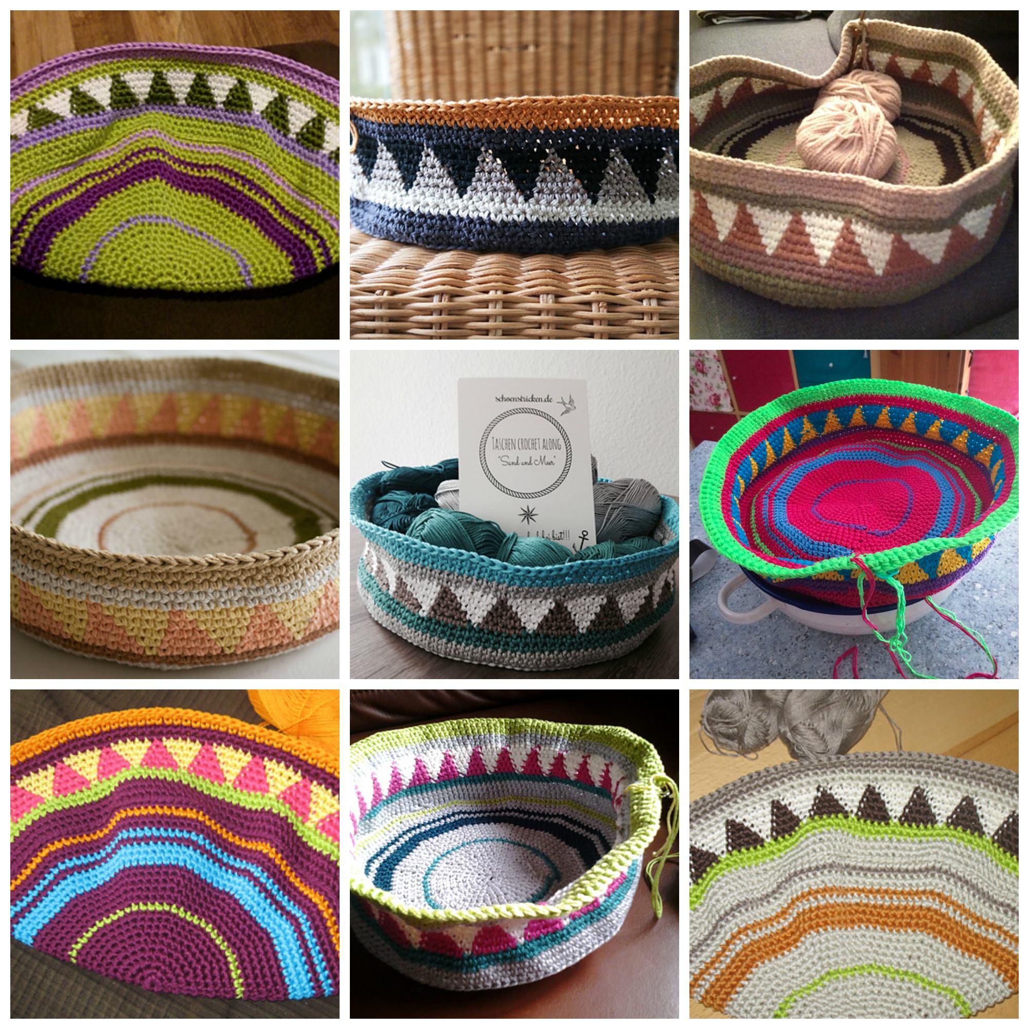schoenstricken.de | Taschen Crochetalong Farbinspirationen