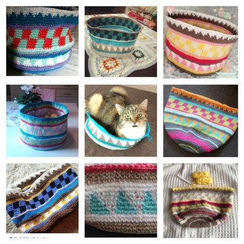 Taschen Crochetalong Collage Muster 2 schoenstricken.de