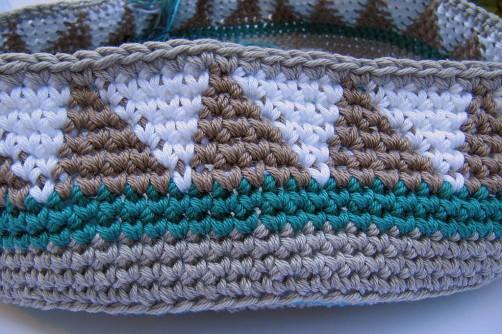 Taschen Crochetalong Sand und Meer Teil 1 Muster 1 der Tasche  schoenstricken.de