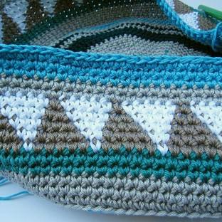 Taschen Crochetalong Sand und Meer Teil 1 Muster 1 Ende  schoenstricken.de