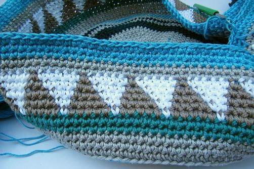 Taschen Crochetalong Sand und Meer Teil 2 Muster 1 Anfang  schoenstricken.de