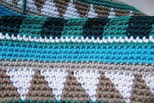 Taschen Crochetalong Teil 2 Schachmuster  schoenstricken.de