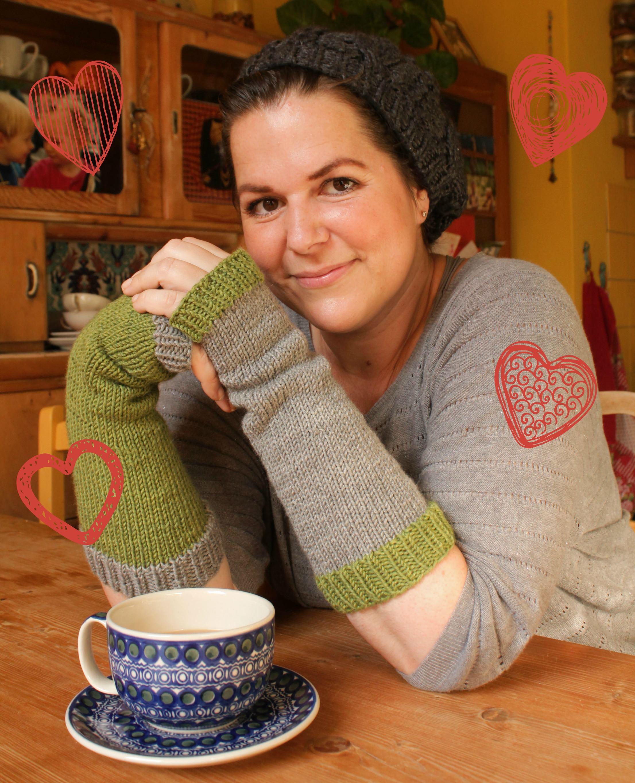 Bunte Armstulpen stricken schoenstricken.de