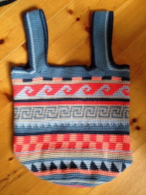 Crochetalong Häkeltasche Sand und Meer von Alena schoenstricken.de
